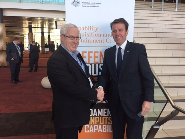 Hon Dan Tehan MP with Envirofluid Director, Brn Ohlmeyer