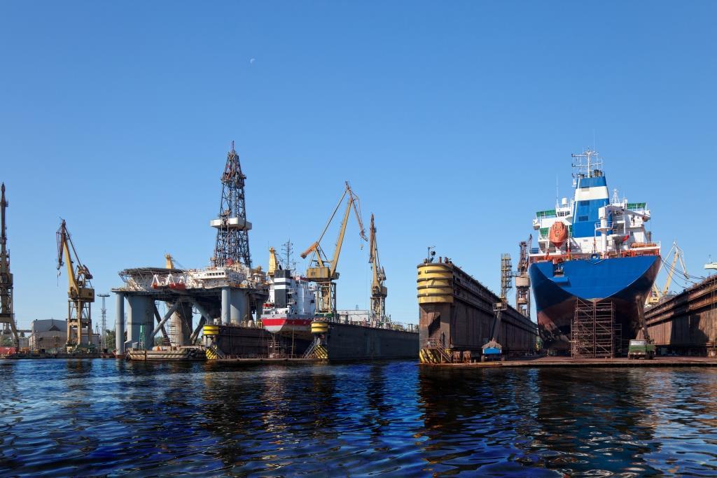 Oil Spill at Shipyard