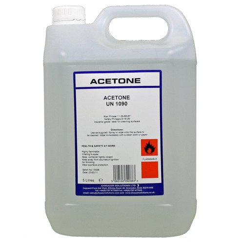 Acetone is a fire risk