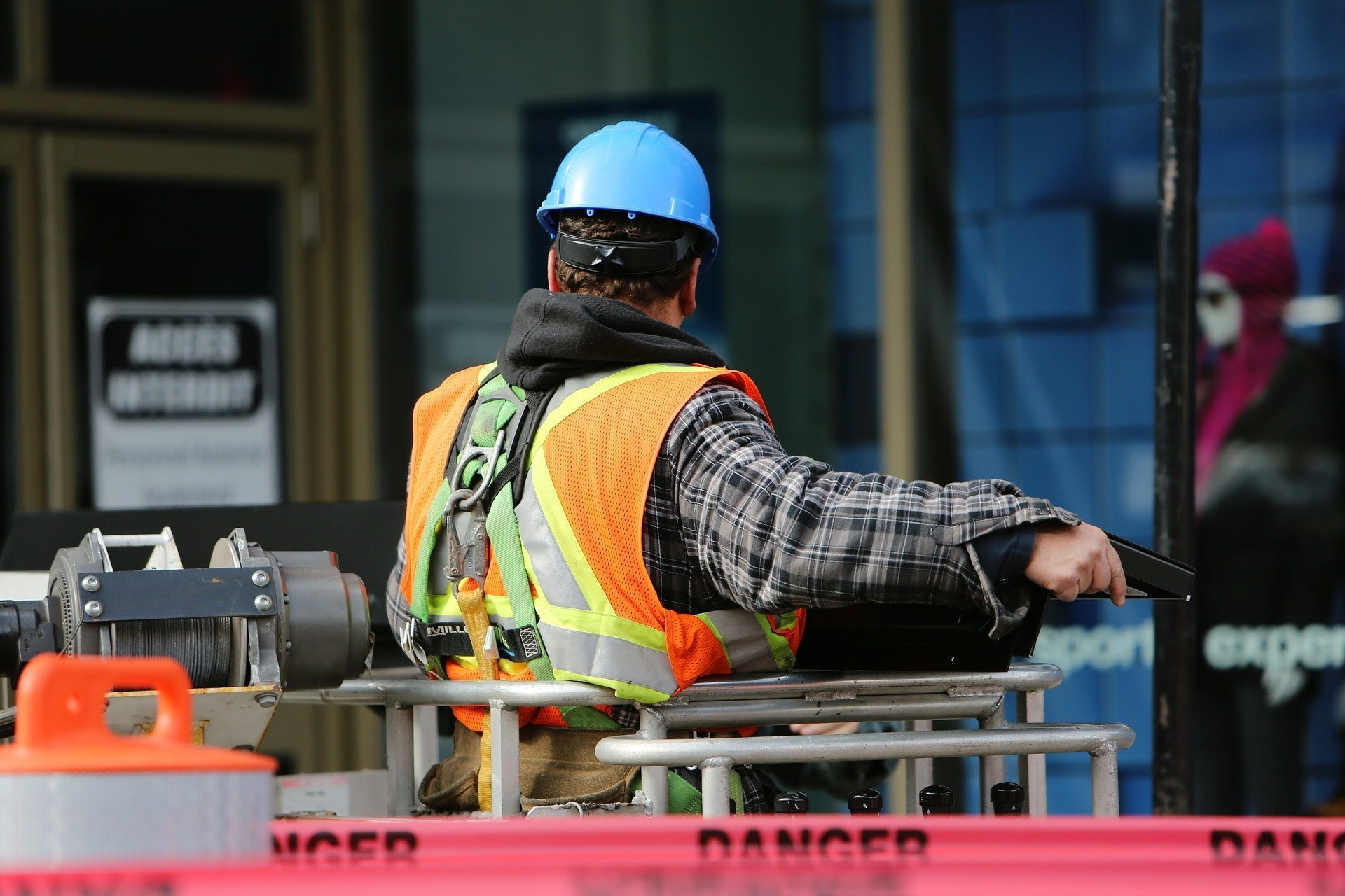 Construction worker on site