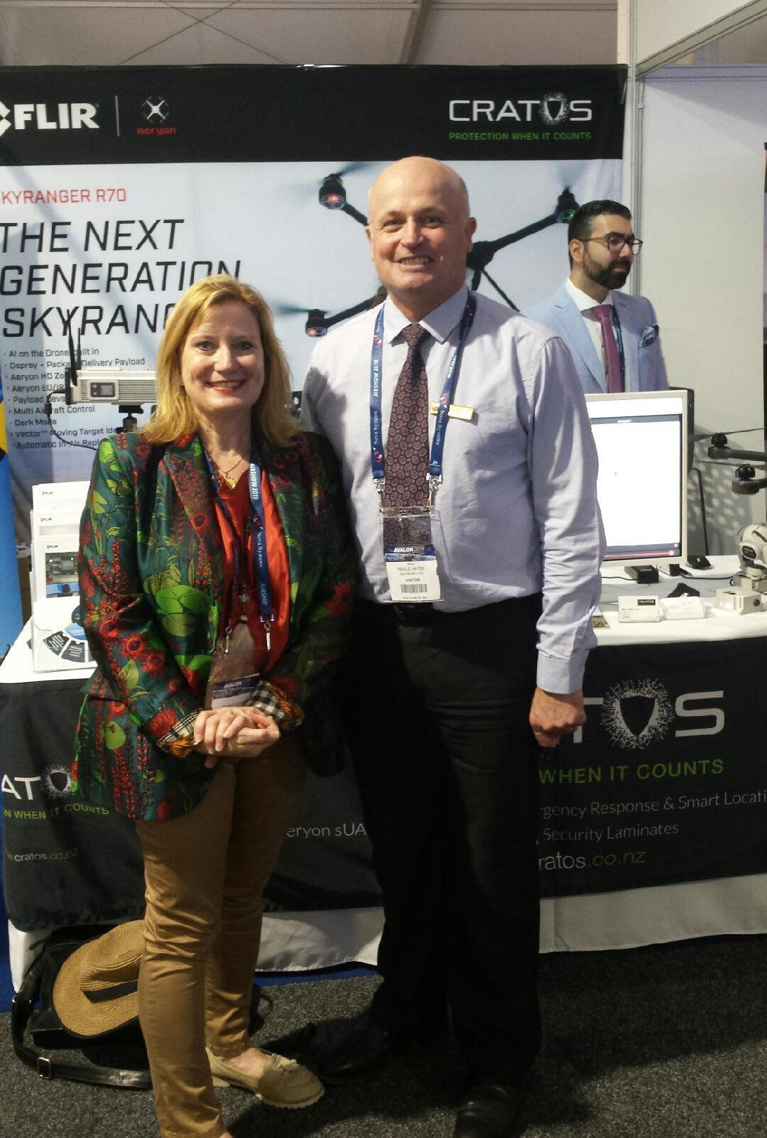 Picture of Neale Hayes and Jennie Vickers at the avalon airshow